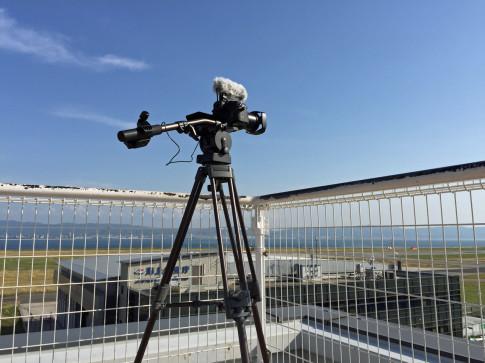 関西空港でのテスト撮影